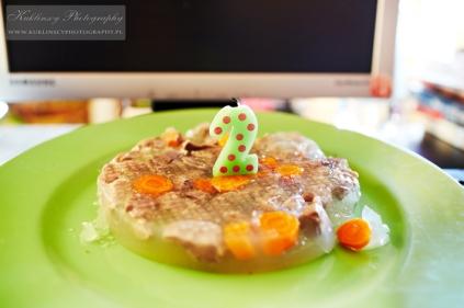 Tak wyglądał mój tort.